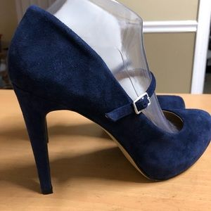 Vince Camuto Blue Suede Mary Jane Stilettos 9